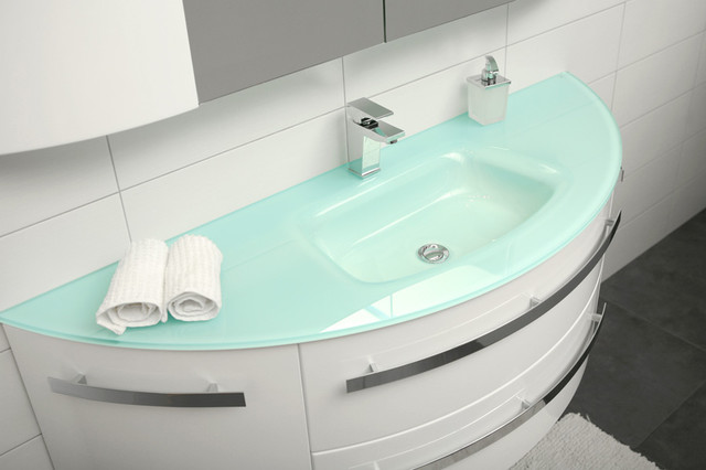 Glass bathroom sink 151cm - modern - bathroom sinks - other metro ...