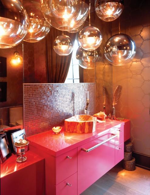 A contemporary, organic space contemporary-powder-room