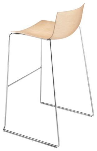 Catifa 46 Wooden Bar Stool with Sled Base modern-bar-stools-and-counter-stools