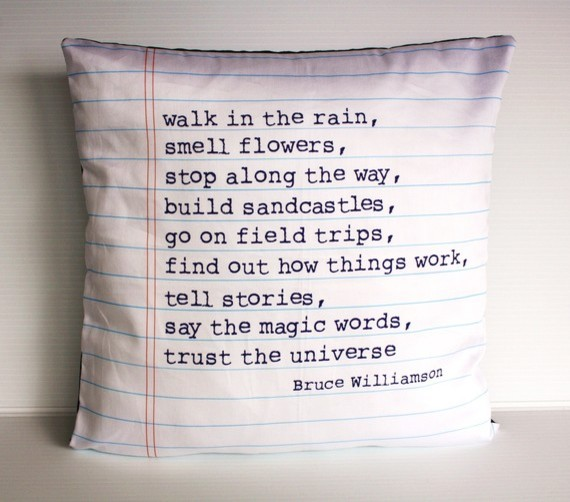 Poem Cushion by My Bearded Pigeon eclectic pillows