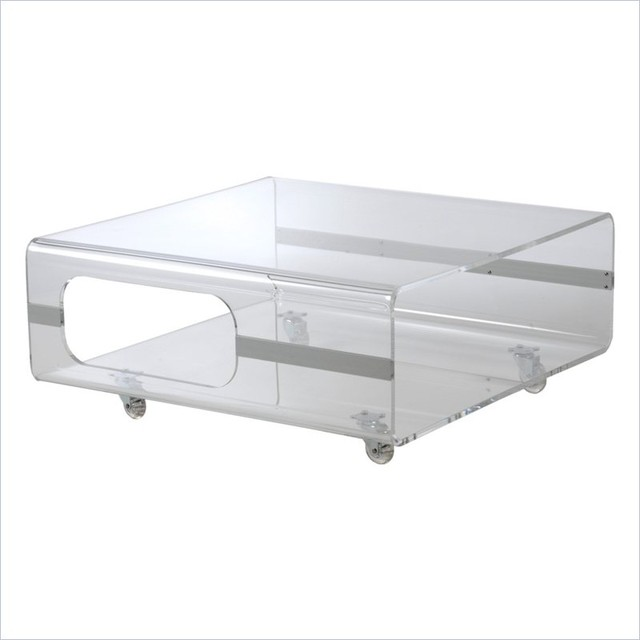 Eurostyle Matthew Coffee Table In Clear Acrylic Modern