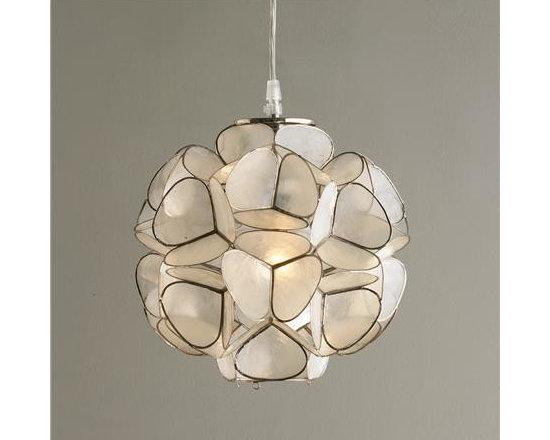 Capiz Shell Flower Pendant Light -