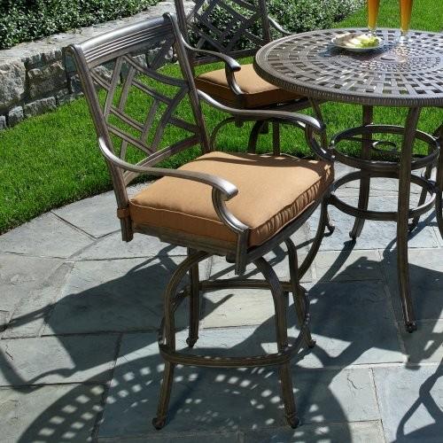 Alfresco Home Sarasota Bar Stool contemporary-outdoor-benches
