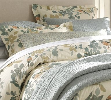 Sadie Bird Organic Cotton Duvet Cover, King/Cal. King, Multicolor traditional-bedding