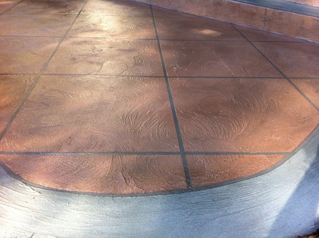 Leggari custom swirl texture with diamond tiles and wood-grain borders contemporary-landscape