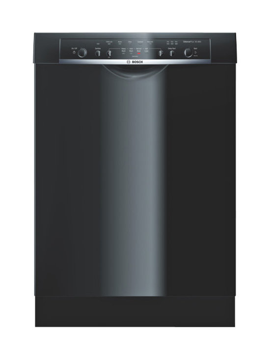 """Bosch 24"""" Ascenta Series Recessed Handle Dishwasher, Black 