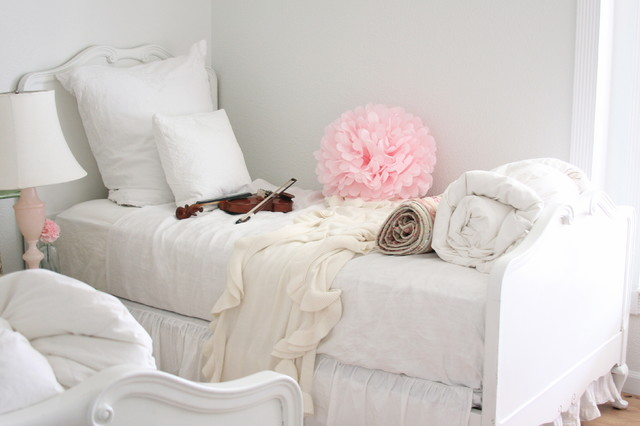 Dreamy Whites eclectic bedroom