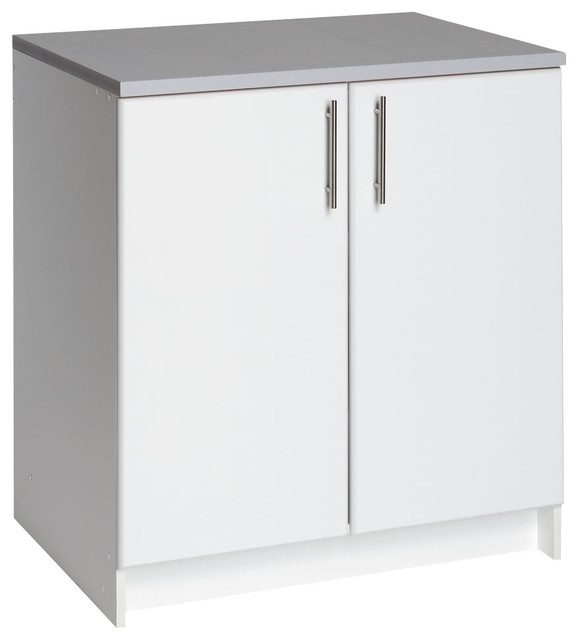 Prepac Elite White 32 Inch Base Cabinet with 2 Doors - Traditional - Accent Chests And Cabinets ...