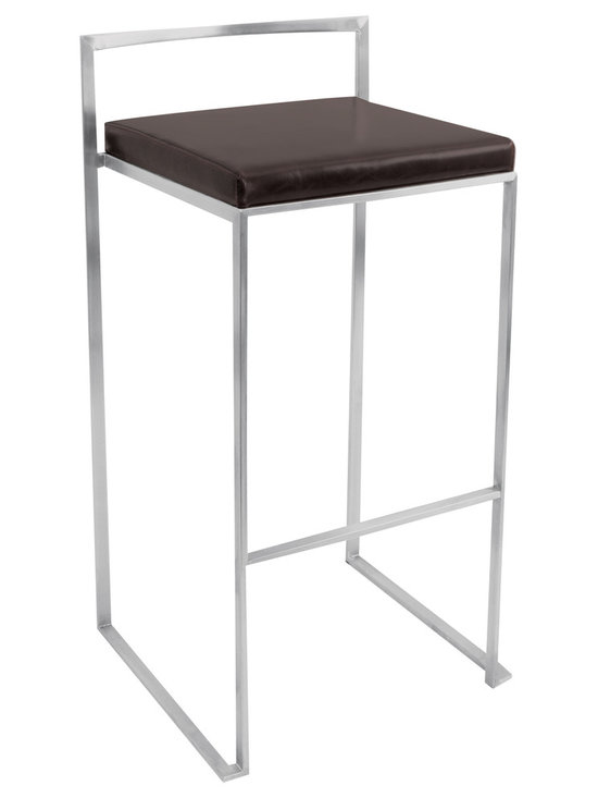 Fuji Stacker Bar Stool - WENGE