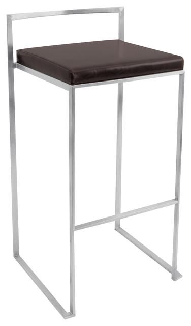 Fuji Stacker Bar Stool - WENGE contemporary-bar-stools-and-counter-stools