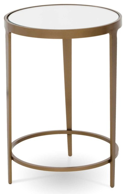 Roundabout Drink Table Oil Rubbed Bronze Mirror