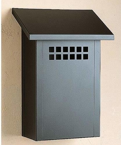 Arroyo Craftsman Glasgow Satin Black Mail Box Vertical