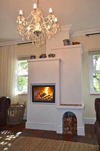 traditional kachelofen with fireplace window traditional