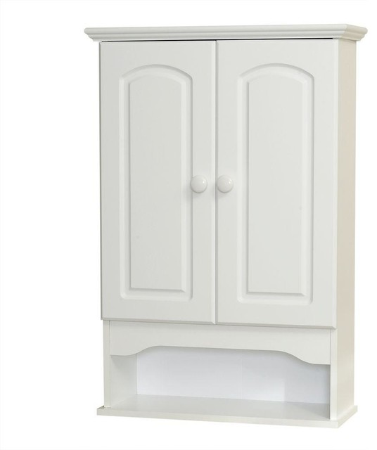 Zenna Home Cabinets Hartford 21 in. W Wood Wall Cabinet in White E9615W - Contemporary ...