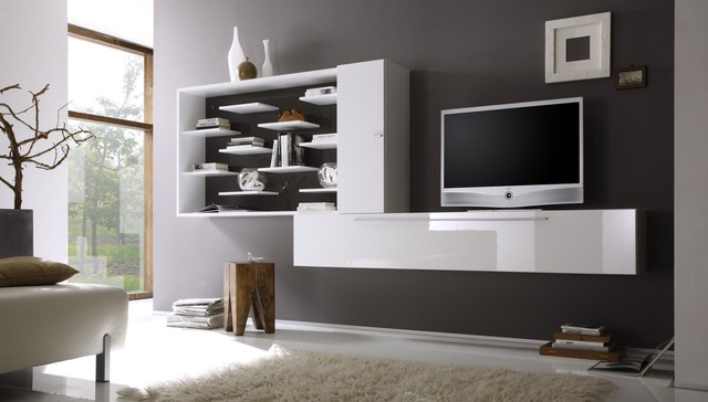 Modern Wall Unit TV Media Entertainment Center Jazz Composition 3 ...