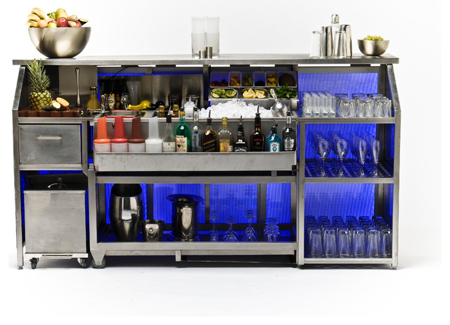 Stainless Steel Mobile Bar - TRANSBAR - Modern - Wine And Bar Cabinets ...