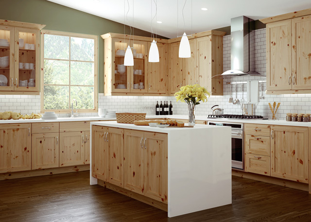 Canyon Creek Millennia  Trio Rustic Pine Natural  Modern  Kitchen