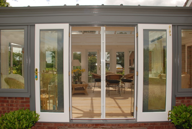 Conservatory Fly Screen For Double Doors Modern