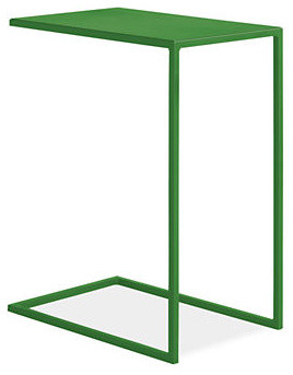Slim c table green modern side tables and end tables for Slim side table