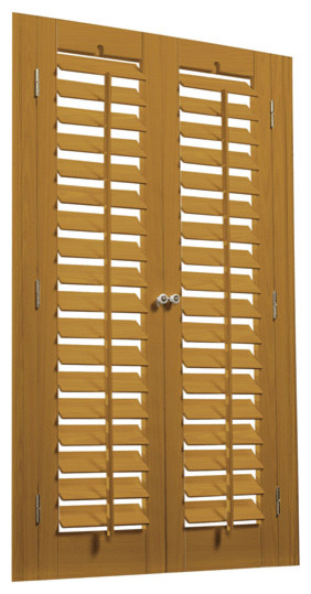 Bass Wood And Faux Wood 2 1 4 Movable Louver Shutter Kits Eclectic Interior Shutters New