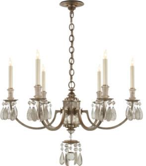 Elizabeth Rock Crystal Chandelier in Antique Silver Leaf chandeliers