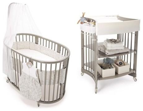 Sleepi Crib Set in Gray with Mattress modern-cribs