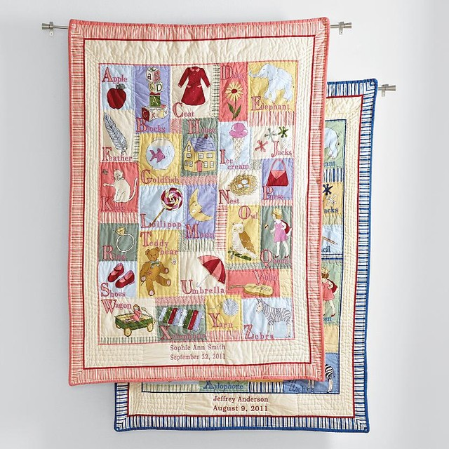 Personalized Abc Keepsake Quilt Contemporary Baby