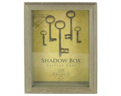 Green Tree Gallery Barn Wood Shadow Box Display Case traditional frames