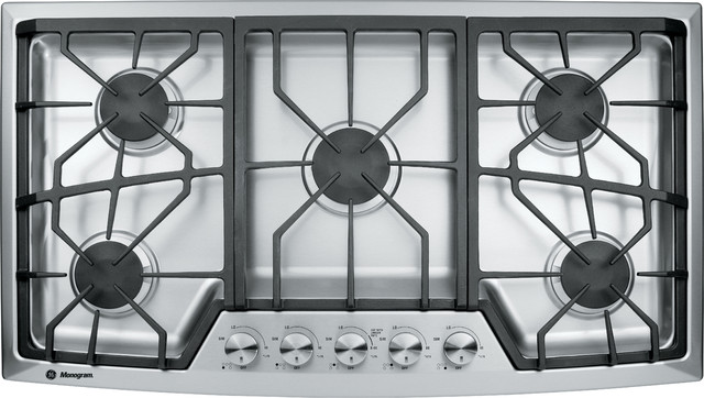 Ge monogram gas cooktop contemporary cooktops other for Tempered glass countertop vs granite