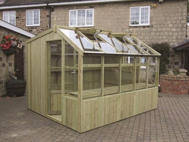 Garden potting shed modern sheds other metro by for Garden potting sheds designs
