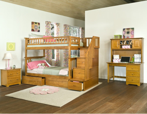 Columbia Staircase Bunk Bed with Raised Panel Drawers - modern ...