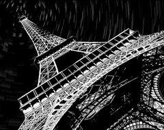 Maxwell Dickson 'Eiffel Tower' Canvas Wall Art contemporary-artwork