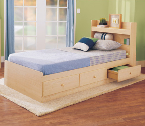 My Space My Place Storage Twin Bed In Maple Modern Kids Beds