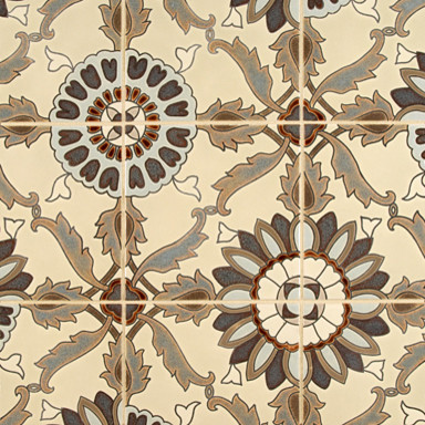 Kibak Ceramic Art Tile - Ann Sacks Tile & Stone eclectic kitchen tile