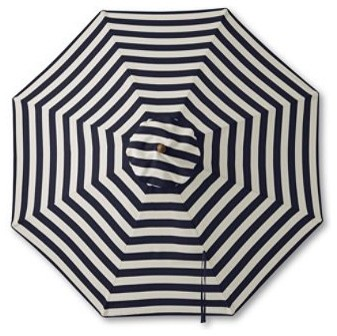 Teak Stripe Market Umbrella traditional outdoor umbrellas