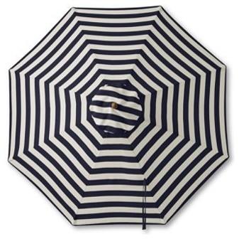 Teak Stripe Market Umbrella traditional-outdoor-umbrellas