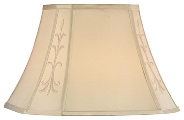 Full Size Eggshell Square Cut Corner Softback traditional-lamp-shades