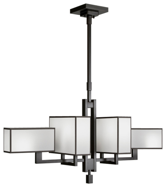 Black + White Story Chandelier, 734040-6ST contemporary-chandeliers