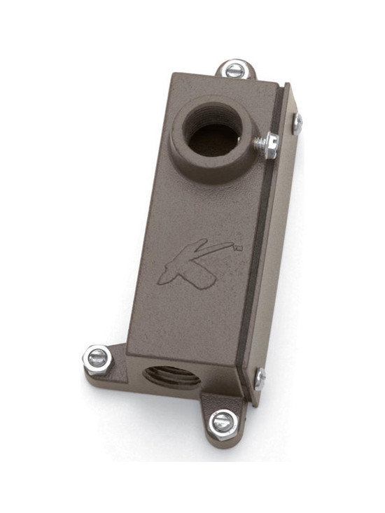 Kichler - 15609AZT Bronze Junction Box Bracket-Kichler LED Landscape Light - Call for best prices. Here's our low price guarantee.