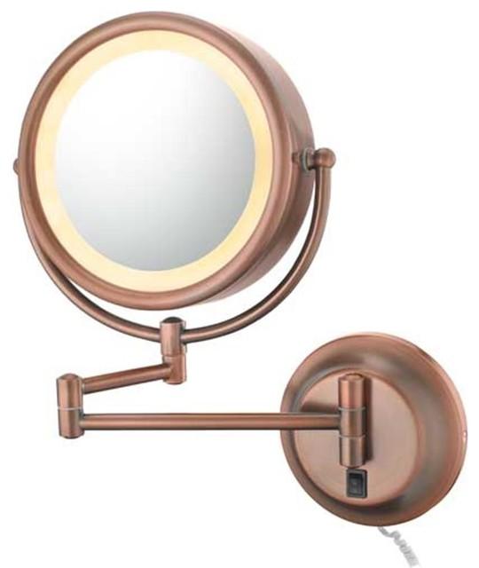 diablo bronze plug in makeup mirror contemporary