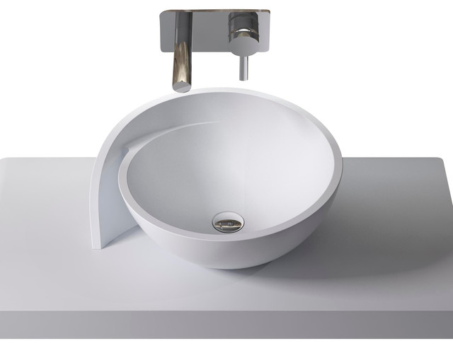 Solid Stone Sink : ADM Solid Surface Stone Resin Counter Top Sink, Matte - Contemporary ...
