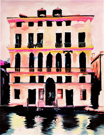 Prada Palazzo Art Print by Leigh Viner contemporary artwork