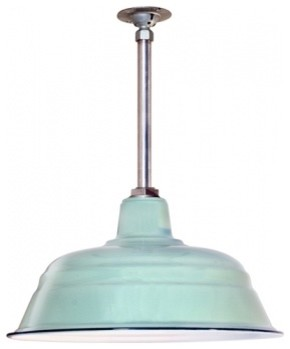 Benjamin® Bomber Porcelain Stem Mount Light modern pendant lighting