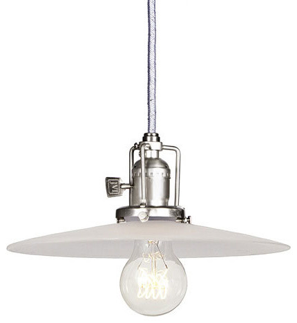 Union Square Pewter Pendant w/ 10-Inch Frosted Glass Shade modern-ceiling-lighting