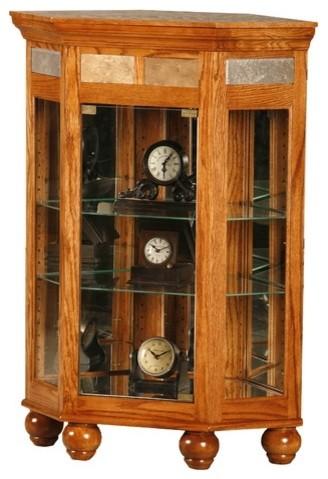 Flagstaff Corner Console Curio Cabinet - Modern - Kitchen Cabinets - by Wayfair