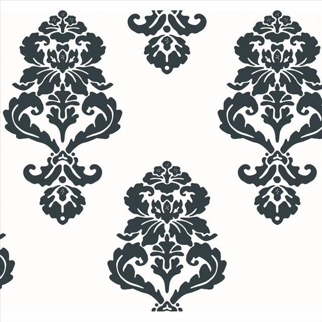 Bedroom Cabinet Designs Ideas Bedroom Ceiling Lights Ideas Bedroom Designs For Couples Black And White Damask Bedroom: Bl0396 Graphic Damask Black And White Medallion Damask
