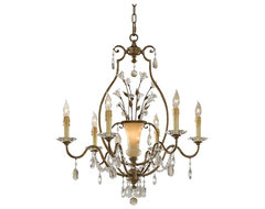 Country - Cottage Murray Feiss Jardin Botanique Chandelier traditional-chandeliers