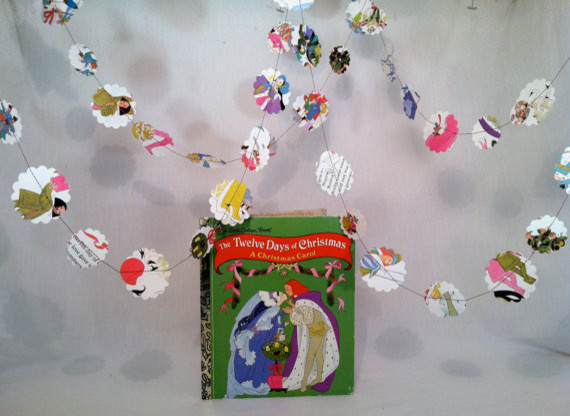 12 Days of Christmas Book Paper Garland by AnthropoloCheap contemporary-wreaths-and-garlands