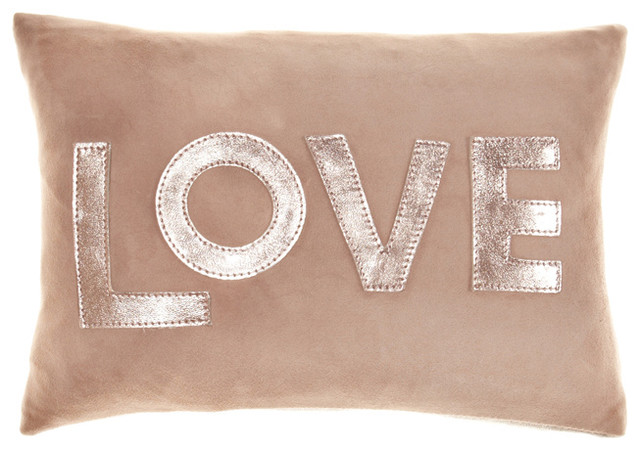 Love Suede Pillow  eclectic-decorative-pillows