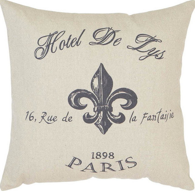 Fabric Pillow 16in.H, 16in.W Unique Home Accents traditional-decorative-pillows